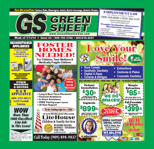San Bernardino Green Sheet