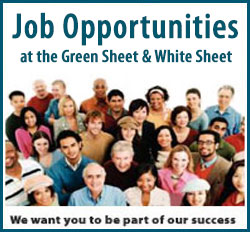 Job listings for the Green Sheet and White Sheet Now Available
