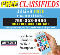 Place Free Classified Ads for items under $1000